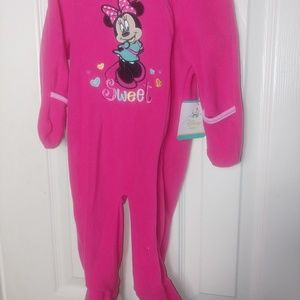 DISNEY PINK MINNIE MOUSE PJ'$ WITH HOOD 3/6 M